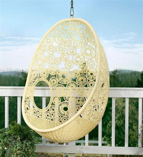 pod swing chair flower pod wicker swing chair home decor chairs