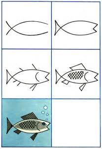 How To Draw Fish How To Draw A Fish Purple