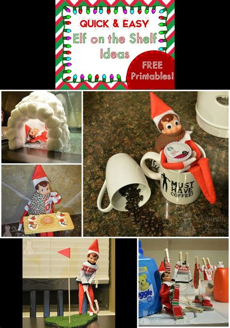 printable elf on the shelf accessories elf on the shelf 2015 calendar 25 new ideas with free