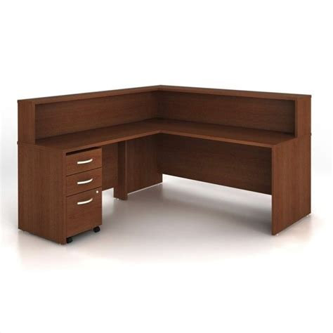 Bush Bennington L Shaped Desk Bush Business Series C 4 L Shape Computer Desk In Mahogany Wc36736 Pkg2