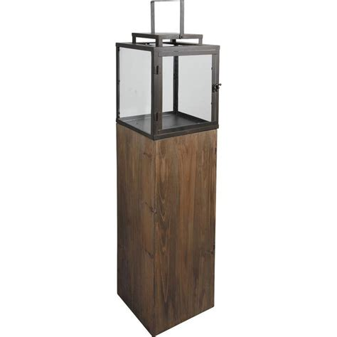 Holz Glas Schiebetür by Standlaterne Aus Holz Glas Und Metall Mood24 De