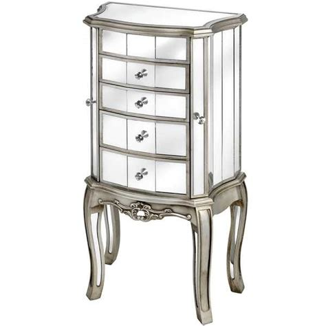 Armoire Jewellery Cabinet by Mirrored Furniture Jewellery Cabinet