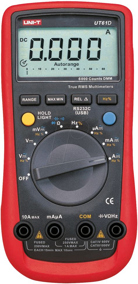 Multimeter Elektronik ut 61d multimeter digital 6000 counts trms bei