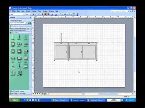 visio kitchen cabinet stencils how to use fp2 visio shape front elevation view youtube