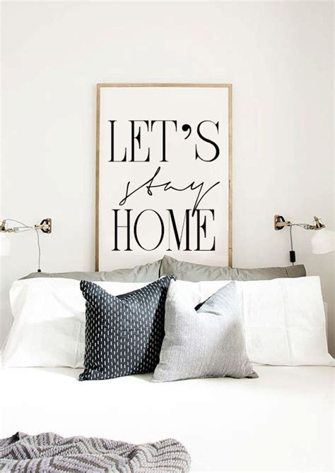 posters for bedroom let s stay home printable bedroom poster scandinavian