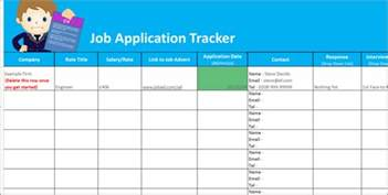 application tracking template application tracker spreadsheet free