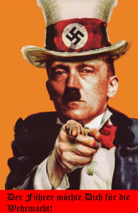 Uncle Sam Meme - uncle hitler uncle sam s quot i want you quot poster know your
