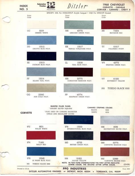 1969 camaro paint colors correct paint team camaro tech