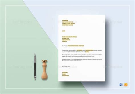 short resignation letter samples templates