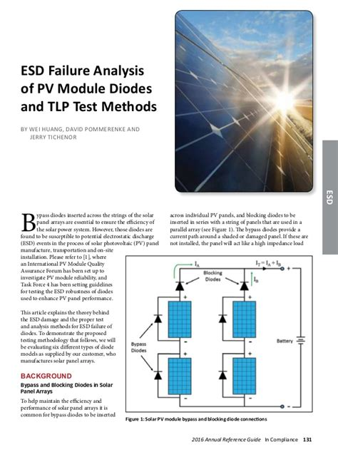 solar panel bypass diode failure solar panel bypass diode failure 28 images lossless power diode drops only 50mv esd failure