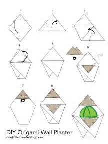 Origami Wall Diy - diy origami wall planter munchkin maker mamas workshop