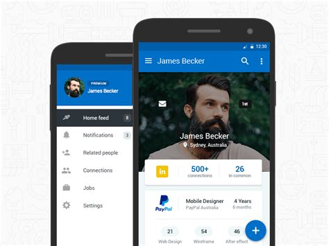 material design company profile linkedin android material design uplabs