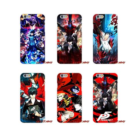 for iphone x xr xs max 4 4s 5 5s 5c se 6 6s 7 8 plus accessories phone shell covers persona 5 p5