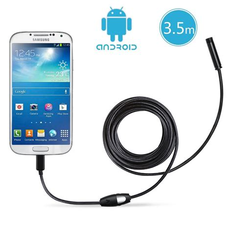 Usb Kamera Android 7mm android endoscope waterproof inspection 6 led micro usb buy android endoscope 7mm