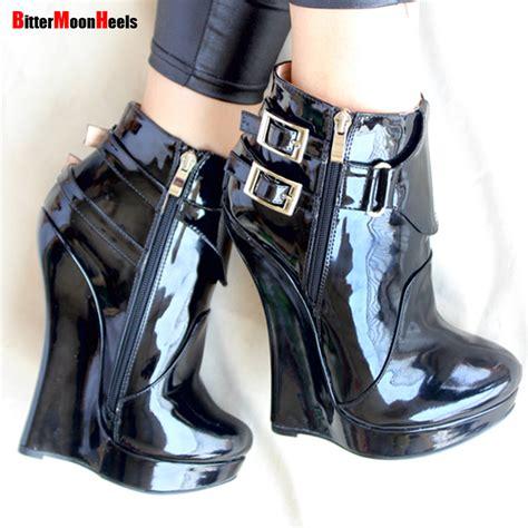 Suplier Wedges Heels aliexpress buy net 7 quot inch high heels black wedge heeled fashion lace