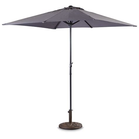 Gray Patio Umbrella Castlecreek Rectangle Market Umbrella Gray 234731 Patio Umbrellas At Sportsman S Guide