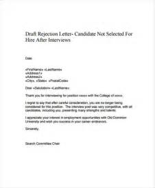 Polite Rejection Letter 12 polite rejection letter free sle exle format