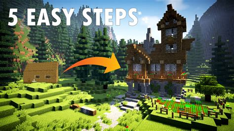 minecraft improve your house build tips youtube 5 easy steps tips to build a better minecraft house youtube