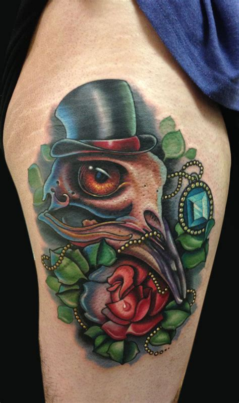 bird skull tattoo mike devries bird skull plus collaboration with timmy