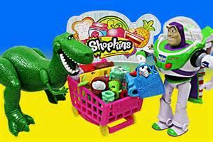 shopkins surprises toy story buzz lightyear rex meeting batman shopkin small mart