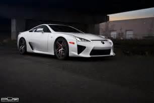 Lexus Lfa Wheels Lexus Lfa Rides On Custom Pur Wheels