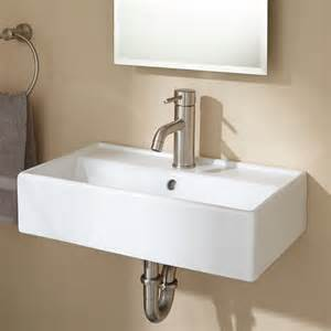 magali wall mount bathroom sink white ebay
