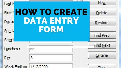 How To Create Data Entry Form In Microsoft Excel Youtube Excel Data Entry Form Template