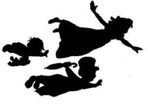 21 X Handmade Shapes Wendy Michael John From Peter Pan Pan Silhouette Template