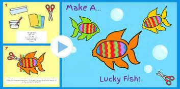new year lucky fish new year make lucky fish activity