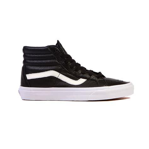 vans sk8 hi reissue quot premium leather quot black white s shoes vn 0za0ew9 ebay