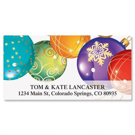 colored address labels colored ornaments deluxe return address labels
