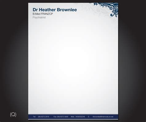 Psychiatrist/ Psychotherapist needs a letterhead design