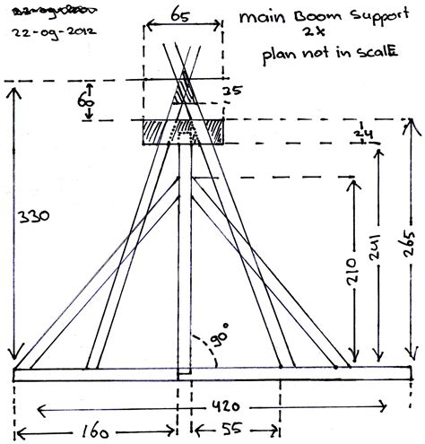 making blueprints trebuchet main supports 2x my trebuchet model blog quot how