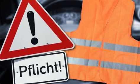 Warndreieck Motorrad Pflicht Deutschland by Warnweste Als Pflicht In Deutschland Reisen