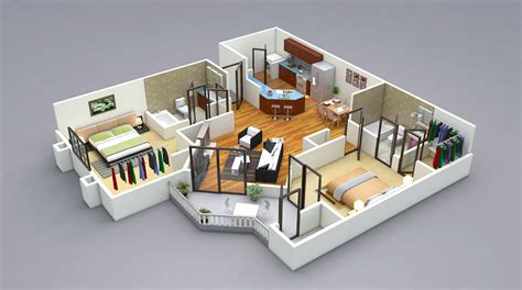 25 more 2 bedroom 3d floor plans amazing architecture