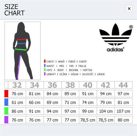 adidas women size chart uk size guide pants