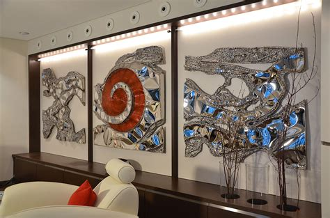 unique living room wall decor wall design wall sculpture silver blue large wall for living room gahr