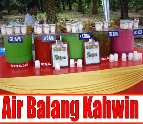 Air Kotak Teh Bunga air balang air balang kenduri kahwin resepi air teh