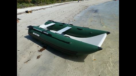 small catamaran fishing boats nano catamaran nc290 small portable fishing boat youtube