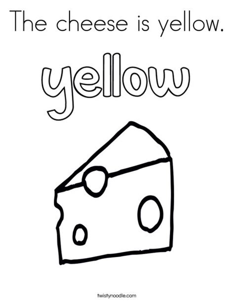 favorite color was yellow books the cheese is yellow coloring page twisty noodle