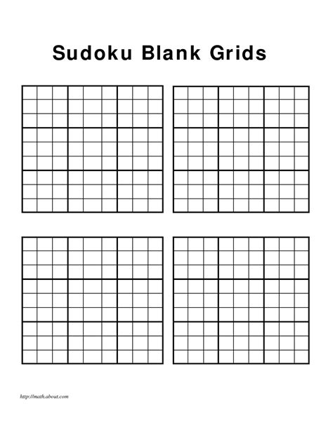 sudoku printable excel 5 best images of printable blank sudoku worksheets blank