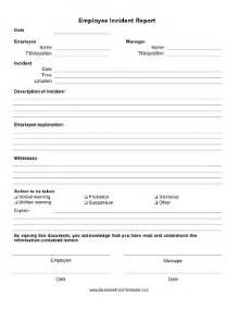 hr incident report template car car report template exles