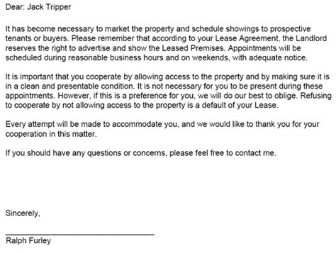 Offer Letter To Tenant landlord tenant notices rental property notices ez