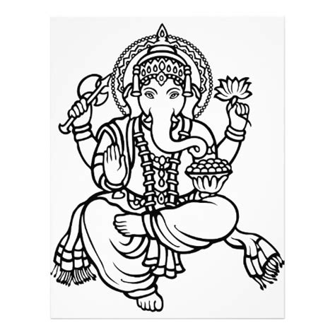 ganesh tattoo template ganesh hindu buddhist deities letterhead zazzle