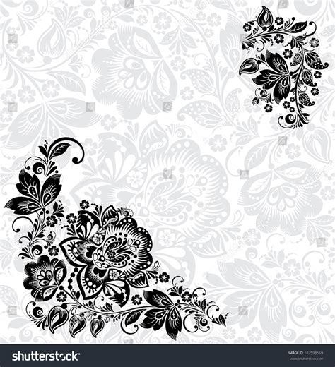 traditional design elements vector vector abstract floral design elements in russian