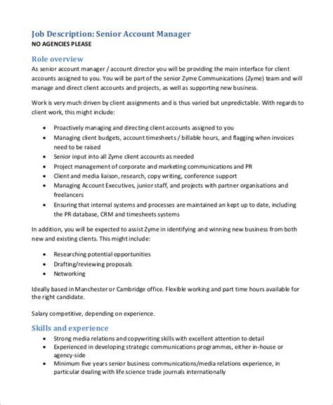 Accounts Receivable Manager Description by Sle Accounting Manager Description 10 Exles In Word Pdf