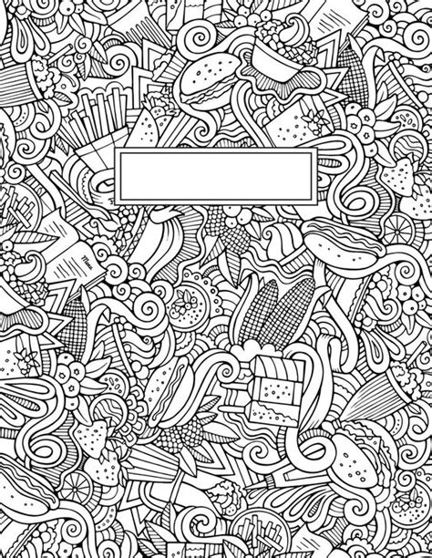 printable journal cover journal cover doodle binder cover coloring pages for