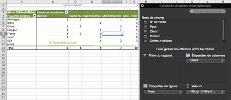 tutoriel tableau croisé dynamique tutoriel le tableau crois 233 dynamique sur excel formule