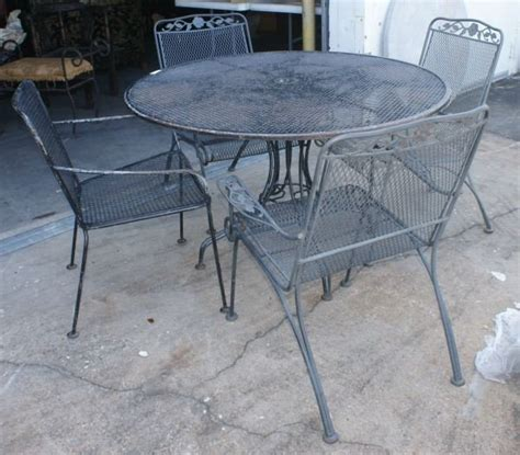 63 Vintage Woodard Wrought Iron Patio Furniture Lot 63 Wrought Iron Patio Furniture Vintage