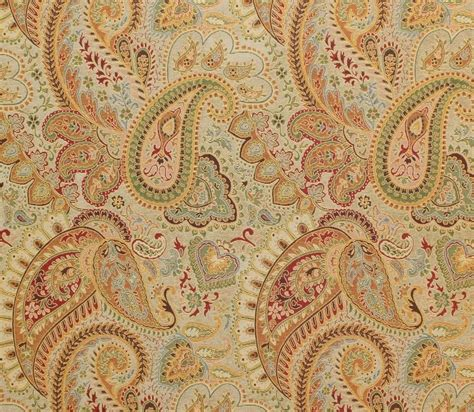 Fabric By The Yard Upholstery by Upholstery Derby Gold Paisley Chenille Drapery Fabric Sold